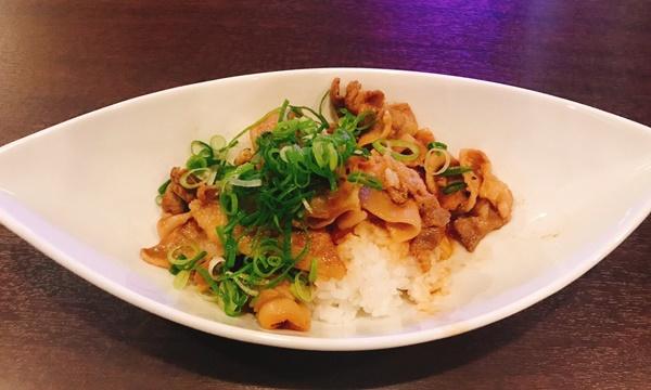メイド特製料理の「生姜焼き丼」